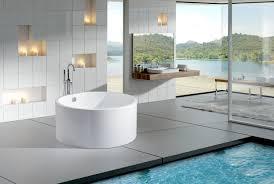 to see larger image dana ii modern freestanding soaking round bathtub 63