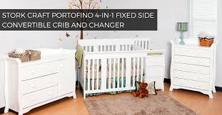 bbcf0003 stork craft portofino 4 in 1 fixed side convertible crib and changer