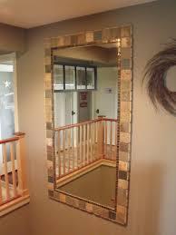 Adhesive Bathroom Mirror Brilliant Gonna Hot Glue Tile Around Our Plain Bathroom Mirrors