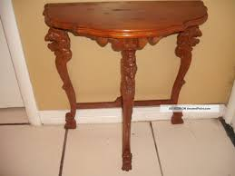 half table for hallway. Modern Style Half Table For Hallway With Figural Carved Lions Moon Hall Circa I