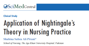florence nightingale theory application of florence nightingales theory in nursing practice by