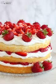 strawberry shortcake cake celebrating