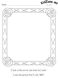 mirror coloring pages for kids. about me worksheets mirror coloring pages for kids