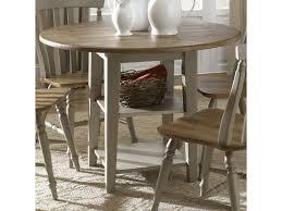 Liberty Furniture Al Fresco Round Drop Leaf Dining Leg Table Royal