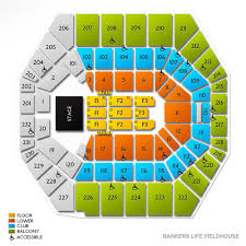 Bankers Fieldhouse Concert Seating Chart Bankers Life Fieldhouse Online Charts Collection