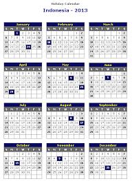 printable year calendar 2013 indonesia 2013 printable holiday calendar printable hub