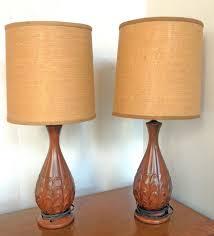 amazing pair of mid century artichoke lamps burlap drum chandelier shades clip on pottery barn linen