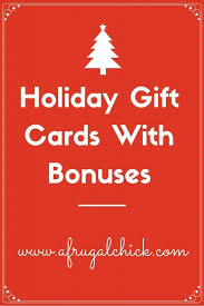 Holiday Gift Cards With Bonuses Gift Ideas Pinterest Holiday