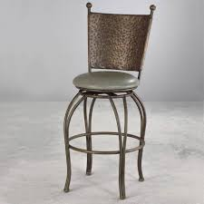 upholstered swivel bar stools. Woodland Iron \u0026 Upholstered Swivel Bar Stool By Wesley Allen - Shown In Textured Copper Moss Stools C