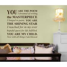 wall art ideas design lamp writing wall art great wallpaper simple colorful you are the poem child pillow bed drawer decor writing wall art home style