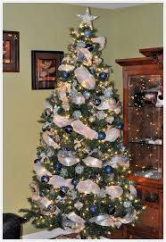 christmas trees decorated in blue.  Blue Throughout Christmas Trees Decorated In Blue C