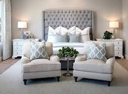 Popular Master Bedroom Colors Bedroom Tufting Armchairs Neutral Decor Hotel  Inspired Bedding Home Decor Blogger Best