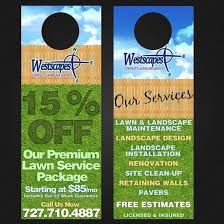 Door Hanger Flyers Designed For Landscaping Company By Ricardo
