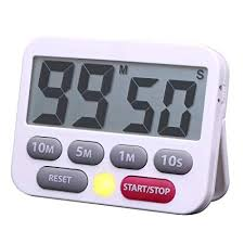 Timer 1 Mins Digital Kitchen Timer Countdown 10 Minutes 5 Minutes 1 Minute Timer Clock Big Digits Loud Alarm Magnetic Backing