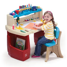 kids activity art desk drawing play toddler table and chair set storage playroom
