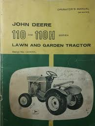 details about john deere 110 round fender garden tractor 30 tiller owner parts 2 manuals