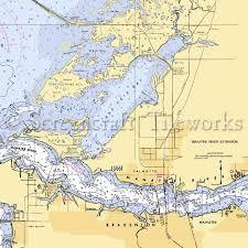 Florida Palmetto Terra Ceia Nautical Chart Decor