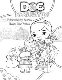 Small Picture Friendship is the Best Medicine in Doc McStuffins Coloring Page