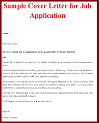 Cover Letter For Job Application With Nice Job Cover Letter Sample