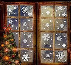 200 Fensterbilder Für Weihnachten Und Frohes Neues Jahrabreome 2 In 1 Schneeflocken Fensterbild Aufkleber Abnehmbareschneeflocken Mit Fensterdeko