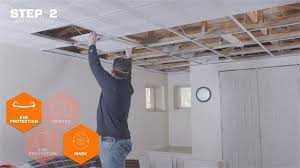 how to update an older drop ceiling