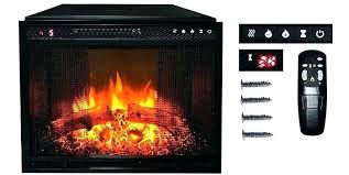 touchstone electric fireplace sideline recessed with heater black