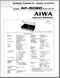 aiwa af 5080 service manual analog alley manuals dial cord stringing tuner adjustments and alignment tape deck adjustments recording adjustments block diagram schematic diagrams wiring