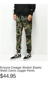 Empyre Creager Stretch <b>Elastic Waist</b> Camo <b>Jogger Pants</b> Houston TX