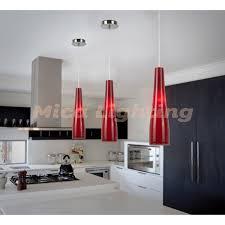 ... Giro Red Modern Glass Kitchen Ceiling Light Red Pendant Lights ...