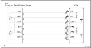 toyota sienna service manual throttle pedal position sensor wiring diagram