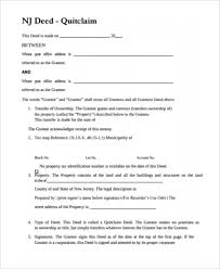 new jersey deed form sample quit deed form 7 free documents in pdf