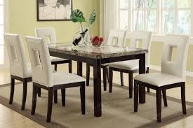 marble dining room furniture. Casual Dark Brown Faux Marble Dining Table Room Furniture