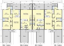 COASTAL DESIGNS Residential Design   Traditional Townhomes  Four    Image of Bridge Creek Townhomes  first floor plan
