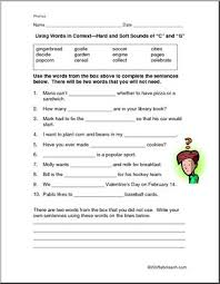 The lanternfish phonics resource section has greatly expanded. Hard And Soft C And G Worksheet I Abcteach Com Abcteach