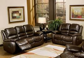 Leather Reclining Living Room Sets Leather Sectionals Sofas With Recliners