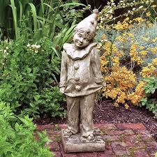 garden figures. Clown Stone Figure Garden Figures A