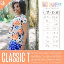 Lularoe Classic T Size Chart