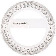 Studymate <b>10cm 360 Degree</b> Protractor | Officeworks