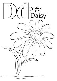 Small Picture Letter D Is For Daisy Coloring Page Download Education Letter