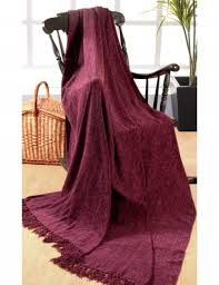 luxury plain chenille throw purple 225cm x 250cms large 3 sofa or double bedspreads 100 indian polyester throw 90 x 100 inches