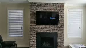 South Charlotte TV Mounting Service  Over A Stone Fireplace Mounting A Tv Over A Fireplace