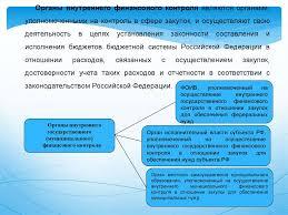 Мониторинг контроль аудит и защита прав и интересов участников  Органы внутреннего финансового контроля являются органами уполномоченными на контроль в сфере закупок и осуществляют свою деятельность