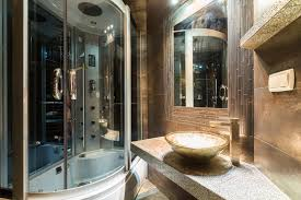 ultra modern showers. Ultra Modern Dark Bathroom With Curved Shower Enclosure And Basin Sink Showers I