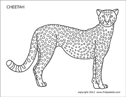 From animals, to sports, to flowers, there is no shortage of coloring pages for kids available at turtle diary. Cheetah Free Printable Templates Coloring Pages Firstpalette Com