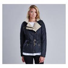 Barbour Ladies Matlock Quilted Jacket Black/Natural Womens Barbour ... & Barbour Ladies Matlock Quilted Jacket Black/Natural Adamdwight.com