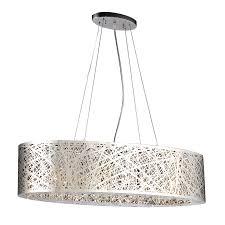 Modern Chrome Pendant Light Plc Lighting Nest 32 In Polished Chrome Single Oval Pendant