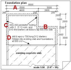 Understanding house construction plans   foundation detailfoundation and footing plan for a house