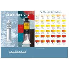 Sennelier Oil Paint Color Chart