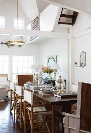 always loved the look of directors chairs paired with a straightforward dining table