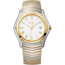 ebel classic watches jomashop ebel classic white dial stainless steel and gold bracelet men s watch